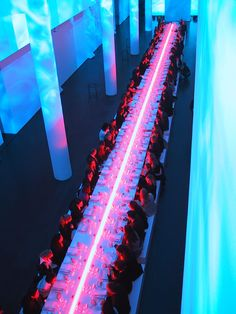 cahfune: omg-sushi: r-iviere: malibugold: bureaubetak: Jil Sander Sun Men Fragrance Launch MACBA Barcelona, Spring 2002 The dinner Produced and directed by Bureau Betak q'd in Vietnam ⚓ wow omg coool love love love! Event Lighting, Neon Lighting, Lighting Design, Stage Design, Event Design, Design Design, Bureau Betak, Blitz Design, Light Design