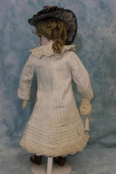 """16"""" Antique French Fashion Doll Chantilly Face Dressed by Eugene Barrois 1870s 