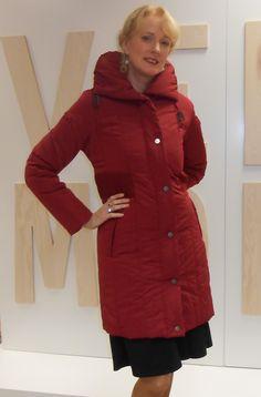 Vibrant red padded coat from Steilmann €135.