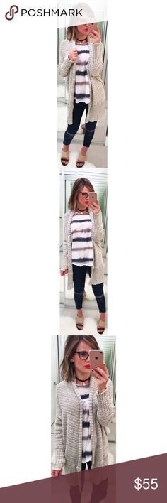 Free People Knit Gray Cardigan Easy to throw on over any ensemble and oh so cozy.  💕Offers welcome on single items and on bundles. Take 20% off your bundle automatically at check out. Happy Poshing!💕 Free People Sweaters Cardigans