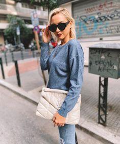 Μπλούζα Πλεκτή Γαλάζια Lurex | Vaya Fashion Boutique