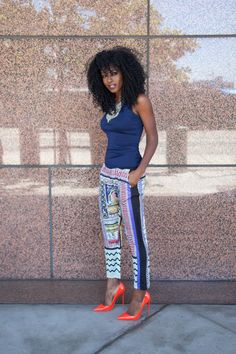 Tank Top + Printed Pants from StylePantry