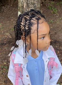 Little Girls Natural Hairstyles, Lil Girl Hairstyles, Kids Braided Hairstyles, Pretty Hairstyles, Little Girl Braids, Braids For Kids, Kid Braid Styles, Kid Styles, Candy Hair