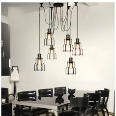 60.00$  Buy here - http://alic2a.worldwells.pw/go.php?t=1869433289 - 6 Lights Loft Vintage industrial Spider Arms Pendant Light Dining Room Hanging Fixture Kitchen Room suspension Lighting 60.00$