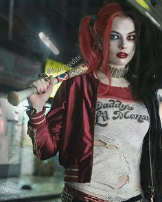 Harley with red and black hair hehe