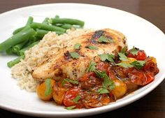 APPLE A DAY: Chicken with Tomato-Herb Pan Sauce