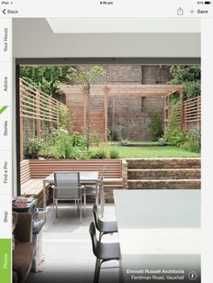 Exciting Garden Fence Ideas for Your Backyard Landscape Design: Contemporary Pat. Exciting Garden Fence Ideas for Your Backyard Landscape Design: Contemporary Patio Seating, Pergola Patio, Diy Patio, Backyard Patio, Backyard Landscaping, Backyard Privacy, Built In Garden Seating, Seating Areas, Pergola Kits