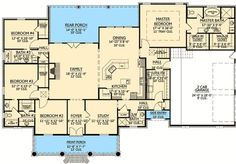 Plan 56352SM: French Country Home Plan With Bonus Room