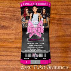 WWE Divas Ticket Invitation by RedVelvetParties on Etsy