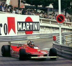 #12 Gilles Villeneuve...Scuderia Ferrari SpA SEFAC...Ferrari 312T4...Motor Ferrari 015 F12 3.0...GP Monaco 1979