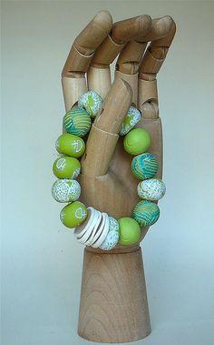 Summer Greens Bracelet, via Flickr.