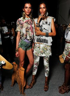 Backstage at Oh Boy S/S 2014 for Rio de Janeiro Fashion Week
