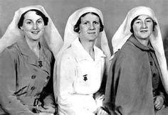 Enfermeras de Nueva Zelanda voluntarias durante la Guerra Civil Española. Eran Renee Shadbolt, Isobel Dodds y Millicent Sharples.