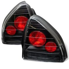 ( Spyder ) Honda Prelude 92-96 Euro Style Tail Lights - Black