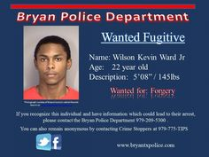 Wilson Ward wanted for Forgery