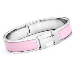 HERMÈS Hermes Narrow Pink Bracelet | StyleTribute