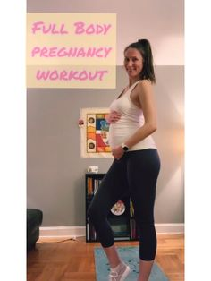 Girl Names Discover Full Body Pregnancy Workout - half-prego burpies - side to side to toe touch squat - bulgarian squats - floor triceps dips - plank shoulder taps - prego russian twists - prego heel slides Pregnancy Workout Videos, Baby Workout, Prenatal Workout, Prenatal Yoga, Workout Body, Third Trimester Workout, Pregnancy Health, Pregnancy Care, Yoga Pregnancy