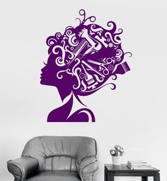 Wall Vinyl Decal Hair Beauty Salon Haircut Guaranteed by BoldArtsy