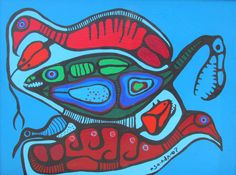 Norval Morrisseau Art and Artwork For Sale by Pegasus Gallery of Canadian Art ~ Salt Spring Art Galleries Native Art, Native American Art, Woodland Art, Inuit Art, Canadian Art, Spring Art, Aboriginal Art, First Nations, Contemporary Artists
