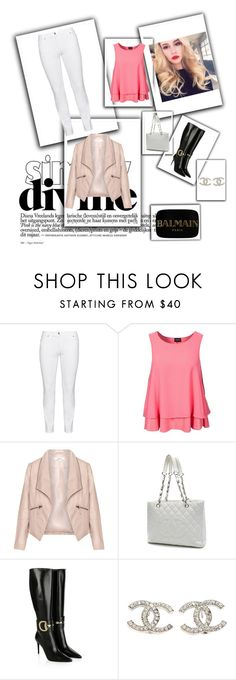"""Chic - Bryana Holly"" by fashion-diva-4lyfe ❤ liked on Polyvore featuring Steilmann, VILA, Zizzi, Chanel, Gucci, Balmain, women's clothing, women, female and woman"
