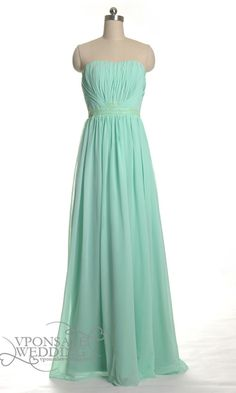 Full Length Mint Green Bridesmaid Gowns DVW0051 | VPonsale Wedding Custom Dresses