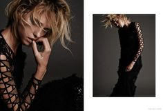 Decked out in a wardrobe of all black looks, model Masha Rudenko channels her dark side for FGR's latest exclusive photographed by Trever Hoehne. Fashion Shoot, Editorial Fashion, Caroline Trentini, Lily Donaldson, All Black Looks, Fashion Colours, Supermodels, Hair Makeup, Dreadlocks