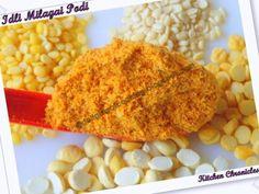Idli Milagai Podi / Spiced Powder Accompaniment for Idli, Dosa South India, Spices, Powder, Tasty, Fan, Vegetables, Healthy, Kitchen, Recipes