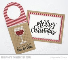 Hostess gift from Stephanie Klauck featuring products from My Favorite Things #mftstamps
