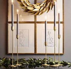 RH's Skultuna Solid Brass Candlesticks - Brass:Crafted by the master braziers of Skultuna, Sweden's legendary 400-year-old brass foundry, our taper holders give candlelight a sculptural presence. Renowned Scandinavian designers created the distinctive forms, which are expertly shaped in solid brass and hand polished to a luminous finish.