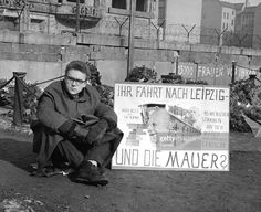 Karl-Wolfgang Holzapfel on 3 day fast in memorial to Peter Fechter, the first Berliner killed by the communists when trying to escape over the Berlin Wall, 4/63.