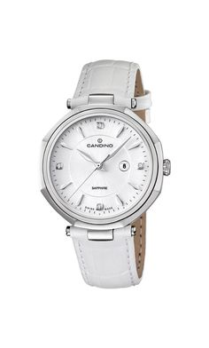 Women watches |  Watches women best white Candino women's quartz Watch with white Dial analogue Display and white leather Strap C4524/2