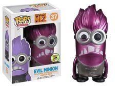 Funko POP Movies Despicable Me Purple Minion Metallic Vinyl Figure (SDCC Exclusive) FunKo