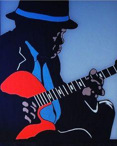 John Lee Hooker by Sylvester McKissick