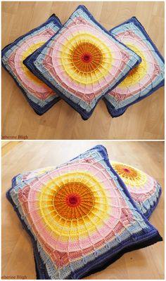 Sunset Cushions Free Crochet Pattern