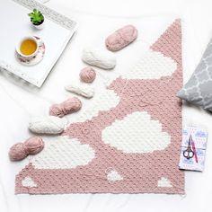 free corner to corner graphgan clouds, kawaii, crochet pattern free, wolke, deck. free corner to c Crochet C2c Pattern, C2c Crochet Blanket, Crochet For Beginners Blanket, Tapestry Crochet, Crochet Chart, Crochet Blanket Patterns, Crochet Stitches, Crochet Blankets, Beginner Crochet