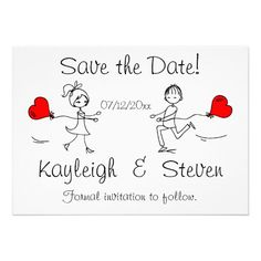 Shop Modern Cute Save the Date created by SweetRascal. Engagement Invitation Cards, Funny Wedding Invitations, Engagement Cards, Wedding Stationery, Wedding Card Templates, Wedding Cards, Dating Quotes, Relationship Quotes, Engagement Quotes