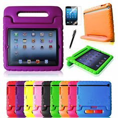 Children Shock Proof Kids Case Cover with Handle for Ipad 4/3/2 or iPad mini $20