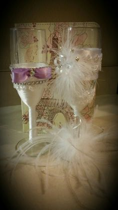 Wedding flutes handmade by me for sale