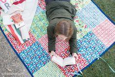 DIY лоскутное Pattern Водонепроницаемый покрывало для пикника, легко шить Учебник для покрывало для пикника который сворачивается!