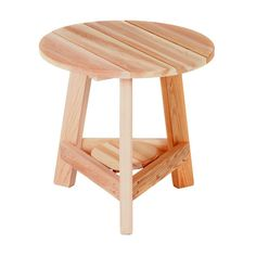 Have to have it. All Things Cedar Tripod Table - $199.99 @hayneedle