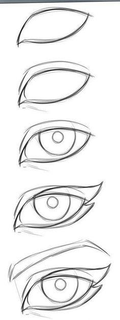 New Eye Drawing Tutorial Easy 57 Ideas Easy Drawing Tutorial, Cat Eye Makeup Tutorial, Eye Drawing Tutorials, Drawing Tips, Drawing Reference, Drawing Drawing, Drawing Ideas, Drawing Techniques, Design Reference