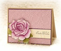 lovely handmade Easter card ... pinks .. gorgeous Fifth Avenue Rose  ...  would be a beautiful Mother's Day card with a different sentiment ...  Stampin' Up!