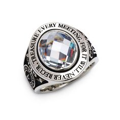 """""""TREASURE EVERY MEETING, FOR IT WILL NEVER RECUR""""  FC-195 / Sterling Silver / Men's ring / Dr MONROE / Made in Japan"""