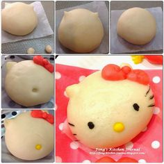 Fong's Kitchen Journal: Hello Kitty Pumpkin Custard Steamed Buns