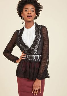 529833167b Delicate Diner Lace Jacket in Black Lace Jacket, Fringe Jacket, Lace  Cardigan, Sweater