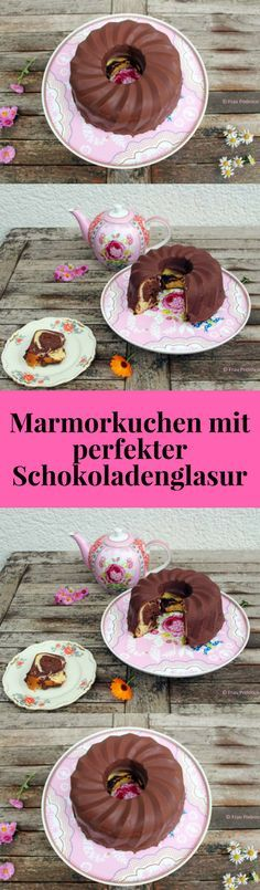 Dieser Marmorkuchen kommt mit der perfekten Schokoladenglasur daher. Ich zeige euch wie einfach das geht. #kuchen #glasur #backen