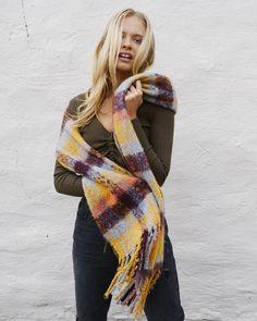 Louisa Tassel Scarf - $19.95 Environmental Health, Plaid Scarf, Gingham, Tassels, Autumn, Fashion, Moda, Fall Season, Fashion Styles