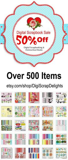 #Digital Scrapbook Sale 50% Off this week. Don't miss it #projectlife #kits #biblejournaling #plannerlove