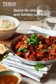 Get an (almost) instant Indian-style supper with this spiced chicken and tomato curry that's ready in just 30 minutes. With just a handful of ingredients, it's a great quick and easy midweek supper for when you're craving something spicy. | Tesco