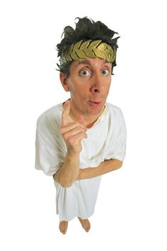 Toga Party Games - combine the chariot race with the spartan helmet (cardboard). Then add other items like toga, sword & shield, gloves, boots, belt. Toga Fancy Dress, Greek Chiton, Ancient Greek Clothing, Roman Kings, Roman Toga, Egyptian Party, Toga Party, Greek Statues, Adult Party Games